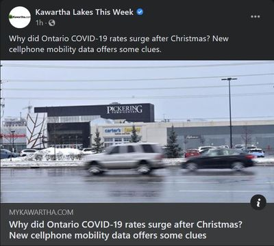 January 10: Why did Ontario COVID-19 rates surge after Christmas? New cellphone mobility data offers some clues