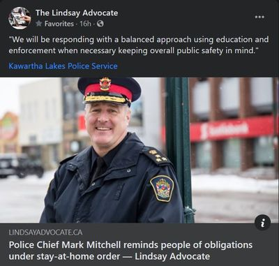 January 14: Police Chief Mark Mitchell reminds people of obligations under stay-at-home order