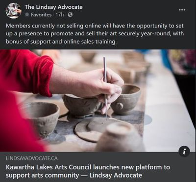 January 18: Kawartha Lakes Arts Council launches new platform to support arts community
