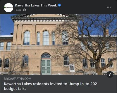 January 20: Kawartha Lakes residents invited to 'Jump In' to 2021 budget talks