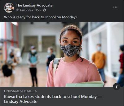 January 20: Kawartha Lakes students back to school Monday