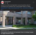 January 20: Coronavirus outbreak at Caressant Care in Lindsay surges to eight positive cases