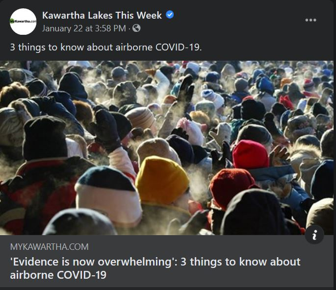 January 22: 'Evidence is now overwhelming' - 3 things to know about airborne COVID-19