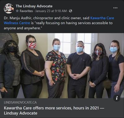 January 22: Kawartha Care offers more services, hours in 2021