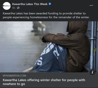 January 24: Kawartha Lakes offering winter shelter for people with nowhere to go