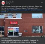January 25: Ross Memorial Hospital and paramedics deployed to assist with outbreak at Caressant Care in Lindsay