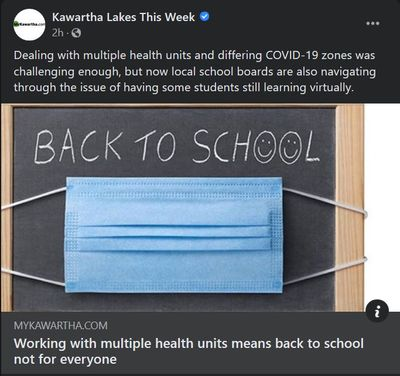 January 26: Working with multiple health units means back to school not for everyone