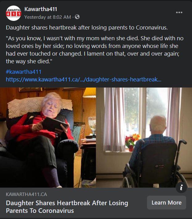 January 31: Daughter shares heartbreak after losing parents to coronavirus