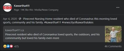 April 4: Pinecrest resident who died of coronavirus loved sports, the outdoors, and his community but loved his family even more