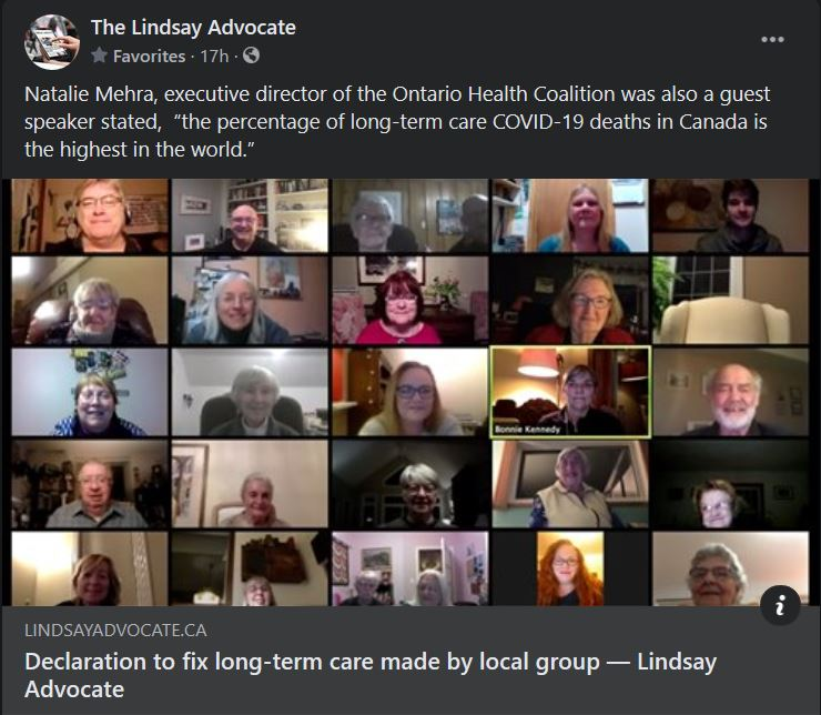 February 1: Declaration to fix long-term care made by local group