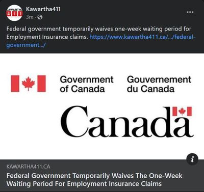 February 1: Federal Government temporarily waives the one-week waiting period for employment insurance claims