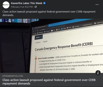 February 2: Class-action lawsuit proposed against federal government over CERB repayment demands