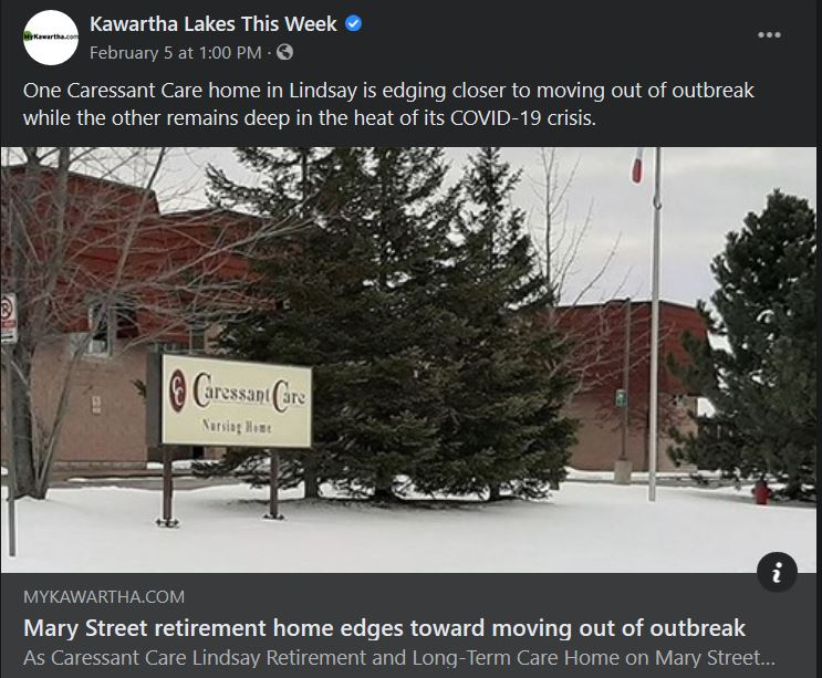 February 5: Mary Street retirement home edges toward moving out of outbreak