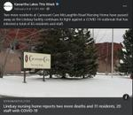 February 8: Lindsay nursing home reports two more deaths and 31 residents, 20 staff with COVID-19