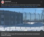 February 10: Now eight active cases of coronavirus at Central East Correctional Facility in Lindsay
