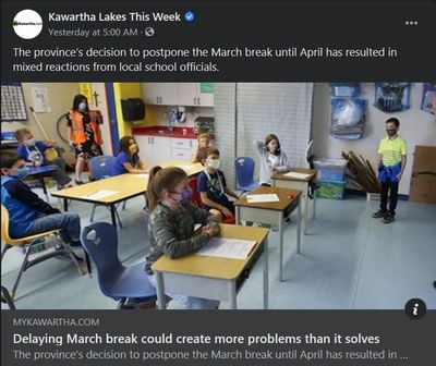 February 15: Delaying March Break could create more problems than it solves