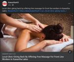 February 18: Local clinic giving back by offering free massage for front line workers in Kawartha Lakes