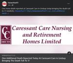 February 22: One additional death reported today at Caressant Care in Lindsay bringing the death toll to 17