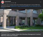February 23: Caressant Care in Lindsay enters into voluntary management contract with Ross Memorial Hospital
