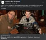 February 24: Bolsover youth wins Special Olympics event thanks to Grampie's ingenuity
