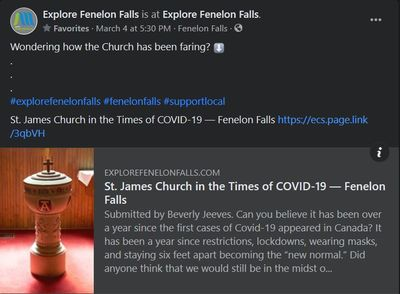 February 25: St. James Church in the Times of COVID-19