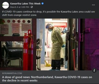 March 4, 2021: A dose of good news - Northumberland, Kawartha COVID-19 cases on the decline in recent weeks