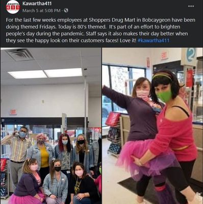 March 5, 2021: Bobcaygeon Shoppers Drug Mart themed Fridays