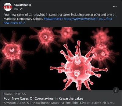 March 8, 2021: Four new cases of coronavirus in Kawartha Lakes