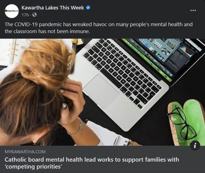 March 9, 2021: Catholic board mental health lead works to support families with 'competing priorities'