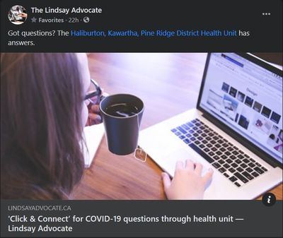 March 9, 2021: 'Click & Connect' for COVID-19 questions through health unit