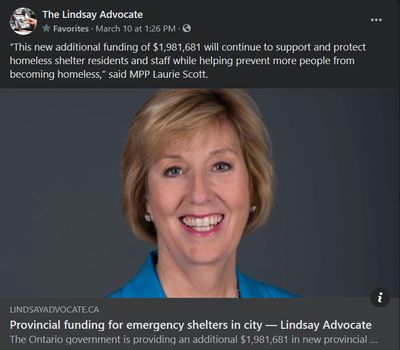 March 10, 2021: Provincial funding for emergency shelters in city