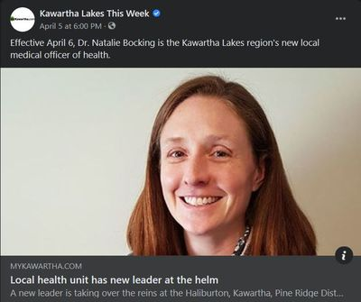 April 5, 2021: Local health unit has new leader at the helm