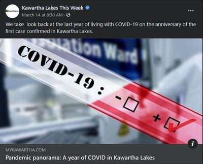 March 14, 2021: Pandemic panorama - A year of COVID in Kawartha Lakes