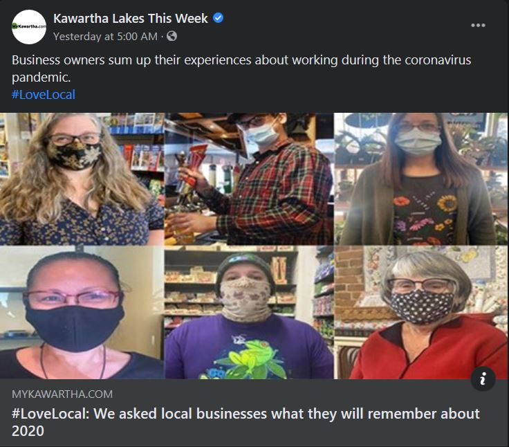 March 15, 2021: #LoveLocal - We asked local businesses what they will remember about 2020