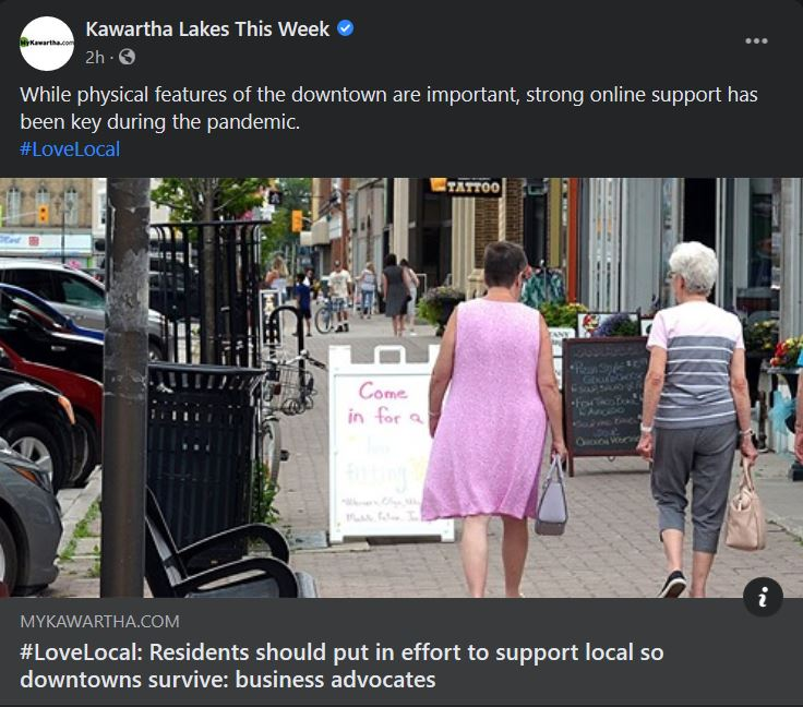 March 16, 2021: #LoveLocal - Residents should put in effort to support local so downtowns survive - business advocates
