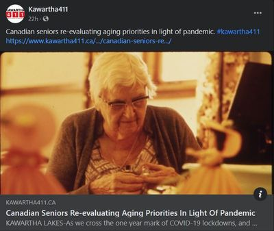 March 16, 2021: Canadian seniors re-evaluating aging priorities in light of pandemic