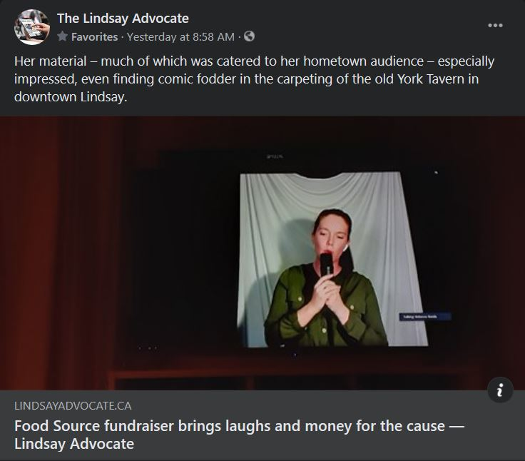 March 22, 2021: Food Source fundraiser brings laughs and money for the cause
