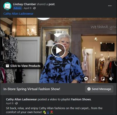 Cathy Allen Ladieswear In-Store Spring Virtual Fashion Show