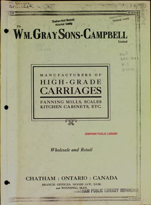 Wm. Gray - Sons - Campbell - Limited Sales Catalog 1914
