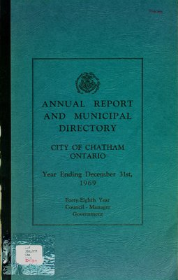 Annual report and municipal directory: year ending December 31, 1969
