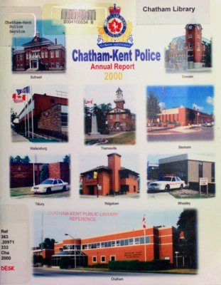 Chatham-Kent Police Annual Report, 2000
