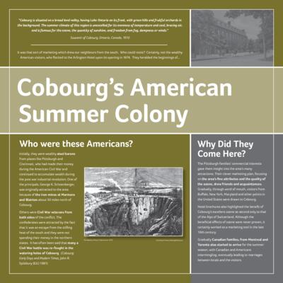 American Influence in Cobourg