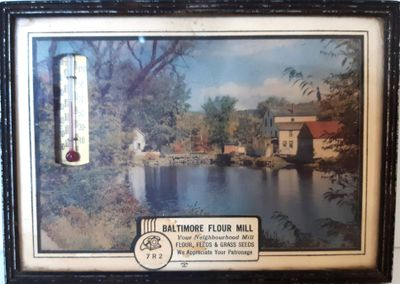 Baltimore Flour Mill wall picture with Thermometer