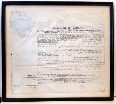 Land Grant Certificate to Jeremiah Lapp, 1850