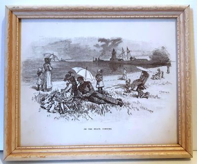 """On The Beach, Cobourg"", Pen and Ink artwork by artist G.P. Williams"