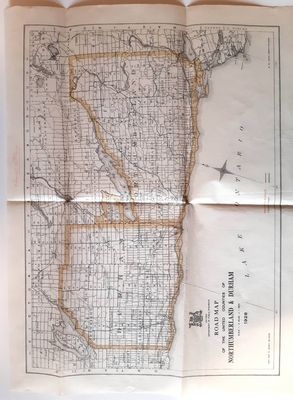 Road Map of United Counties of Northumberland and Durham. Dated 1928.
