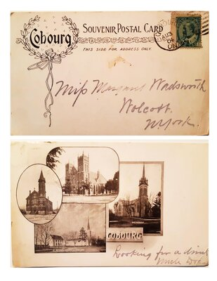 Cobourg Souvenir Postcard. Circa 1904.