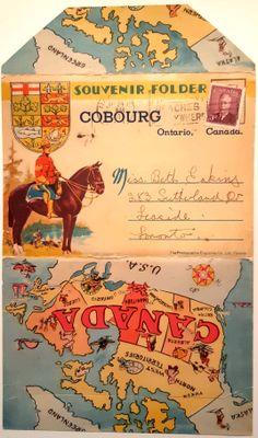 Cobourg Postcard folder. Circa 1950.