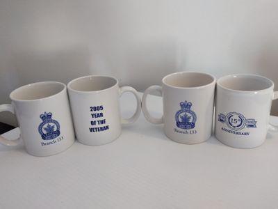 Royal Canadian Legion Anniversary Mugs