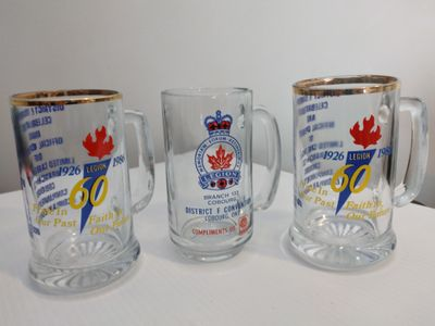 Legion 60th Anniversary Beer Mugs